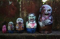 Russian Nesting Dolls #zombie #dead #bloody
