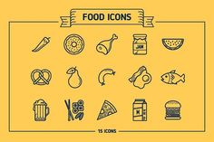 Food icons by EDT.im on @creativemarket