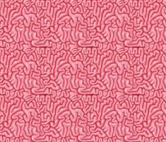 Neon Pink Brains fabric by sufficiency on Spoonflower - custom fabric