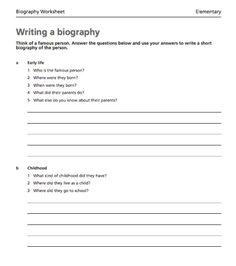 how to write net how to write a biography about   how to write net how to write a biography about yourself pinteres