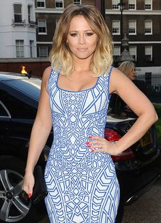 Summer ready: Kimberley Walsh looked picture perfect in her sky blue dress (from DAILYMAIL. Celebrity Film, Celebrity Style, Lovely Dresses, Blue Dresses, Kimberley Walsh, Cheryl Fernandez Versini, Girls Aloud, Cheryl Cole, Foto Pose