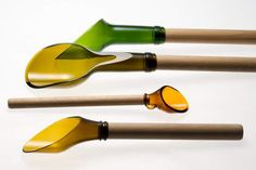 18 Different Ways to Repurpose Your Beer Bottles via Brit + Co.6. Beer Bottle Spoons: Wait! We are in love with these!! What a great idea for cooking utensils or gardening tools. Yes, we are weirdly suggesting both of those activities for this set of tools. (via Green Upgrader) http://www.brit.co/diy-beer-bottles/?utm_campaign=pinbutton_hover