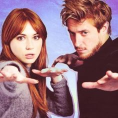 Karen Gillian and Arthur Duvall as Amy Pond and Rory Williams from the show Doctor Who All Doctor Who, Eleventh Doctor, Science Fiction, Arthur Darvill, Rory Williams, Karen Gillan, Amy Pond, Don't Blink, Torchwood