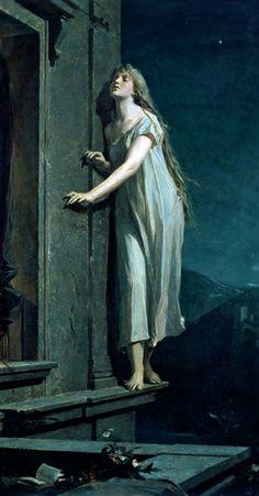 The Sleepwalker, by Maxmilian Pirner, 1878.