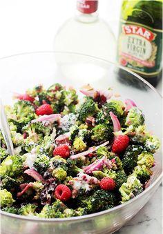 STAR Broccoli Salad with Raspberry Vinaigrette #STARFineFoods
