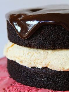 Chocolate Buckeye Cake is what cake dreams are made of! This from-scratch buckeye cake recipe is a chocolate lovers dream, not to mention easy!