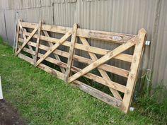 The Vineyard Gate - Select your size Wooden Farm Gates, Timber Gates, Side Gates, Australia Country, Entrance Gates, Country Estate, Fence Design, Vineyard, Cottage Ideas
