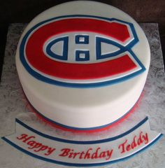 A Touch Of Cake - Our Cakes Montreal Canadiens, Cupcake Cake Designs, Cupcake Ideas, Cupcakes, Cupcake Cakes, Stanley Cup Cakes, Hockey Cakes, Sport Cakes, Grilling Gifts