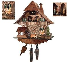 Traditional Cuckoo Clock Black Forest House with dancers [Kitchen & Home] - http://clocks.pinterestbuys.com/kitchen/traditional-cuckoo-clock-black-forest-house-with-dancers-kitchen-home/