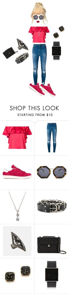 """""""Glamour Girl..**"""" by yagna ❤ liked on Polyvore featuring Rachel Zoe, IRO, adidas Originals, Karen Walker, Fantasia by DeSerio, McQ by Alexander McQueen, Avenue, Chanel, Kate Spade and QLOCKTWO"""