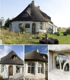 A house of clay, gravel and straw in is no ordinary house, Kirsten Maria and her boyfriend Rene Hansen has built. The house with the beautiful organic form located in the ecological village Torup in North Zealand Denmark. It is home made and called a cobhus.