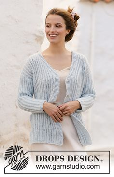 Knit Cardigan Pattern, Vest Pattern, V Neck Cardigan, Scarf Patterns, Knit Cowl, Free Knitting Patterns For Women, Baby Pullover, Drops Design, Knit Jacket