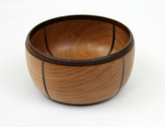Stunning Cherry and Black Walnut Segmented Bowl by WatkinsWoodWork, $45.00