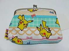 Pokemon Center Walk him Coin Pouch ribbon Pikachu.with the bonus item From Japan #PokemonCenter
