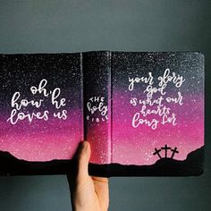 I'm like 😍-Custom order hand painted journaling bible cover New Bible, Bible Art, Psalm 91, Bible Verse Painting, Bibel Journal, Diy Cadeau, Christian Wall Art, Christian Paintings, Christian Life