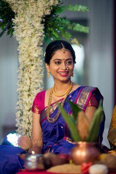 Elegant Marathi Bride in Traditional Style Saree