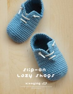 Slip-OnBabyLazy ShoesCrochet PATTERN by kittying.com from mulu.us | This pattern includes sizes for 0 - 12 months.</p>