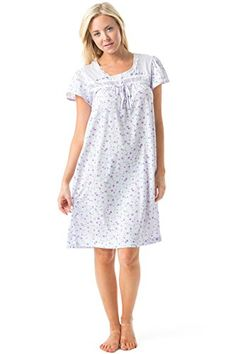 Casual Nights Women's Cap Sleeve Floral Nightgown *** More info could be found at the image url.