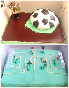 2 football cakes for twins!