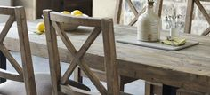 Standford Reclaimed Wood Upholstered Dining Chair | Modish Living