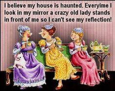 my house is haunted funny lol funny quote funny quotes humor Aging Humor, Senior Humor, Old Women, Getting Old, Make You Smile, Decir No, I Laughed, Favorite Quotes, Favorite Things