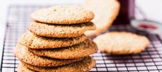 Free Thermomix Recipes - The 4 Blades Anzac Biscuits, Strawberry Jam, Rolled Oats, Dried Cranberries, Oatmeal Cookies, Tray Bakes, Cooking Time, Tea Time, Lunch Box