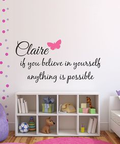 Love this 'Believe in Yourself' Personalized Name Wall Decal Set by DecorDesigns on #zulily! #zulilyfinds