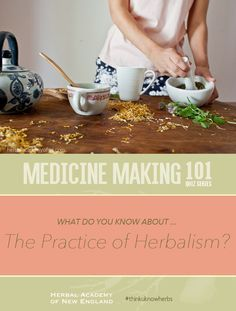 What do you know about the Practice of Herbalism? If you are interested in pursuing clinical herbalism or starting your own business, this is a very helpful resource! #thinkuknowherbs