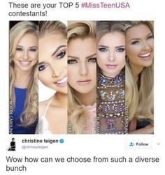 ....wow. All blonde white chicks. Thats new for americas beauty standards