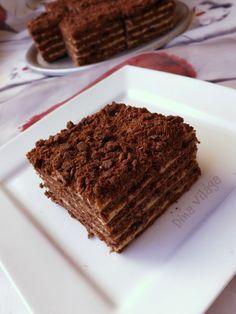Király krémes, avagy csokis-karamellás marlenka Hungarian Recipes, Hungarian Food, Cake Bars, Minden, Tiramisu, Recipies, Cookies, Baking, Sweet
