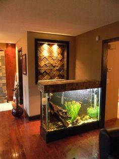 Fish Tank Design Ideas, Pictures, Remodel and Decor Wall Aquarium, Home Aquarium, Aquarium Design, Living Room Partition Design, Room Partition Designs, Cocktail Bar Design, Home Bar Rooms, House Roof Design, Fish Tank Design