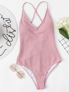 Shop Plunging Neck One Piece Swimsuit online. SHEIN offers Plunging Neck One Piece Swimsuit & more to fit your fashionable needs. Modest Swimsuits, Monokini Swimsuits, Cute Swimsuits, Women's Swimwear, Bathing Suits One Piece, One Piece Swimwear, One Piece Swimsuit, Bikini Swimsuit, Bikini Beach