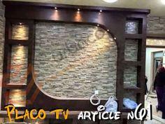 Eurl Urbaco Construction added a new photo. Tv Shelf Design, Tv Cabinet Design, Tv Unit Design, Tv Wall Design, Ceiling Design Living Room, False Ceiling Design, Lcd Panel Design, Tv Wall Cabinets, Tv Unit Furniture