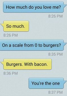 Can't go wrong with a person who loves bacon.