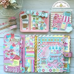 Cream & Sugar Collection: Planner Love with Jomelle Kawaii Planner, Cute Planner, Planner Layout, Happy Planner, Planner Ideas, Planner Supplies, Cute Stationery, Stationary, Cute School Supplies