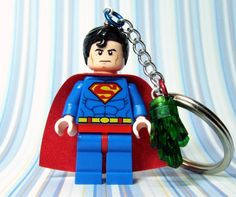Superman lego key chain