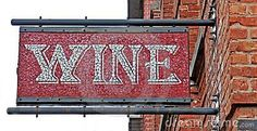 Photo about Mosaic Restaurant Wine Sign hanging on the brick wall. Image of close, delicatessen, drink - 18451325 Wine Signs, Photo Mosaic, Types Of Wine, Wine Art, Ways To Relax, Hanging Signs, Wine Drinks, Unique Colors, Brick Wall