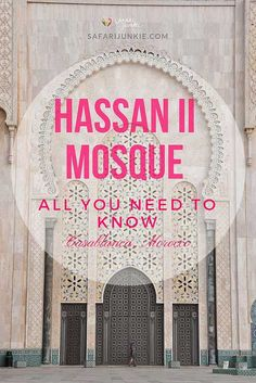 If you are traveling to Morocco, the must-see place is the Hassan II Mosque in Casablanca! Read all you need to know before visiting Hassan II Mosque Volunteer In Africa, Africa Destinations, Africa Travel, Casablanca, Mosque, Morocco, Need To Know, Safari, Mosques
