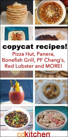 Copycat Recipes! - CDKitchen.com -  Over 2,000 of your favorite copycat recipes