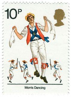 Morris Dancing - British postage stamp