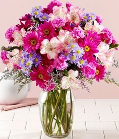Send flowers and gifts including 75 Blissful Blooms from ProFlowers. Flowers and gifts are available for any holiday or occasion. Send it to your loved one today with our easy online ordering or call. Bouquet Champetre, Happy Birthday Flower, Mom Birthday, Birthday Gifts, Online Florist, Bloom, Mothers Day Flowers, Send Flowers, Flower Bouquets