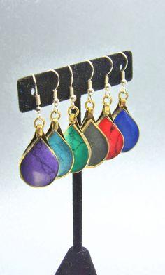Kuchi earrings,Turquoise Earrings,Lapis Earrings,Coral Earrings,Onyx Earring,,Purple Earring, lapis Earrings,Afghan Earrings by ZsTribalTreasures on Etsy