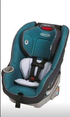 Evenflo AMP Select Car Booster Seat Girl or Boy Safe Butterfly Blue Flames