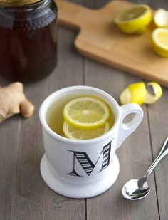 Whether you have a sore throat or a stuffy nose, this tea will cure (or at least help) what ails you *Honey, lemon, ginger tea*