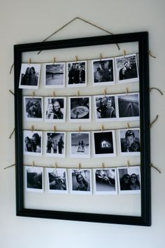 A creative and organized way to display all of your favorite pictures!