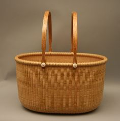 Large Double Handle Basket by Bob Cosgray.