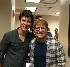 Shawn Mendes with Ed Sheeran backstage