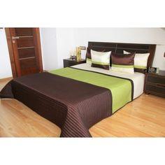 Luxusní přehozy na postel v zeleno hnědé barvě - dumdekorace.cz Bed, Furniture, Design, Home Decor, Decoration Home, Stream Bed, Room Decor, Home Furnishings