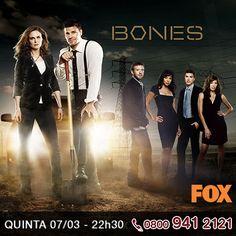 """Mais uma estreia esta noite. A série """"Bones"""" estreia hoje sua 8ª temporada na FOX. O que acontecerá com Brennan? Será que voltam a se reunir com Booth? http://www.clarotv.br.com/"""