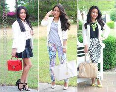 3 ways how to wear a white blazer
